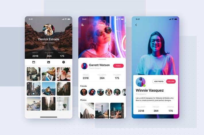 Thumbnail for Profile UI Template Mobile App