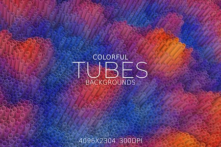 Colorful Tubes Backgrounds