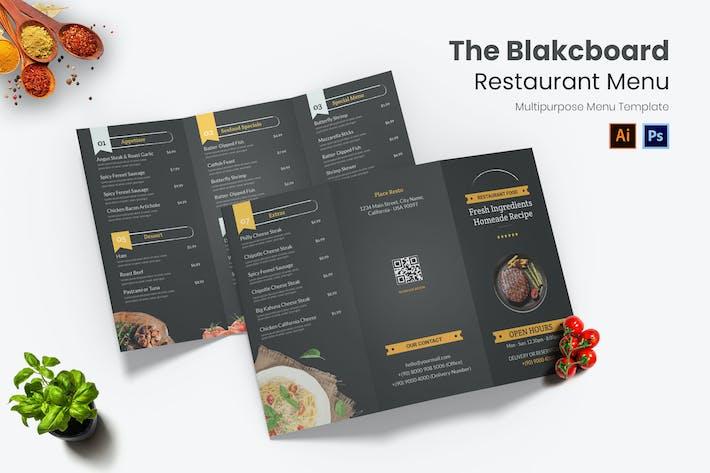 Blackboard Restaurant Menu