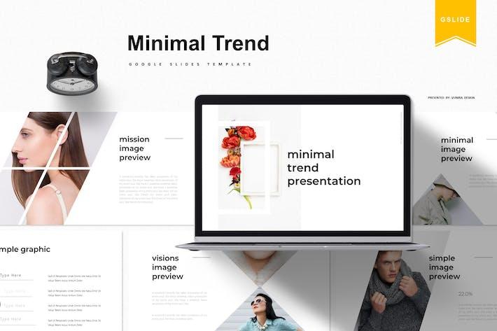Thumbnail for Минимальный тренд | Шаблон слайдов Google