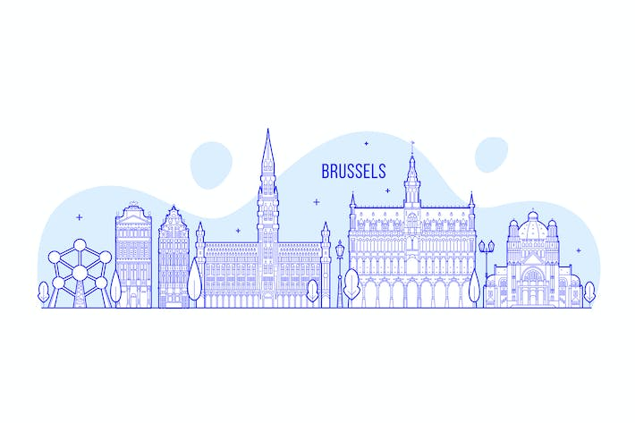 Thumbnail for Brussels skyline, Belgium