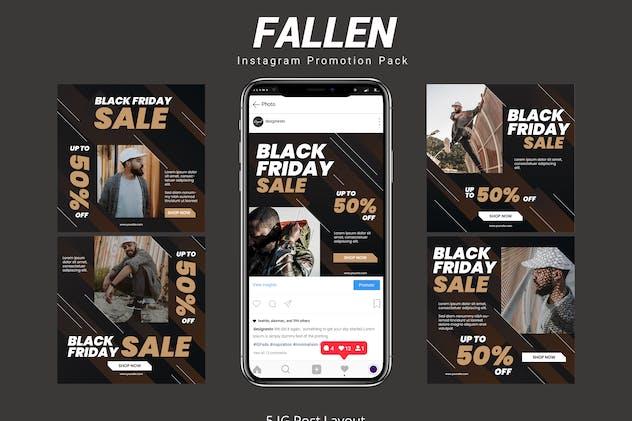 Fallen - Instagram Post Pack