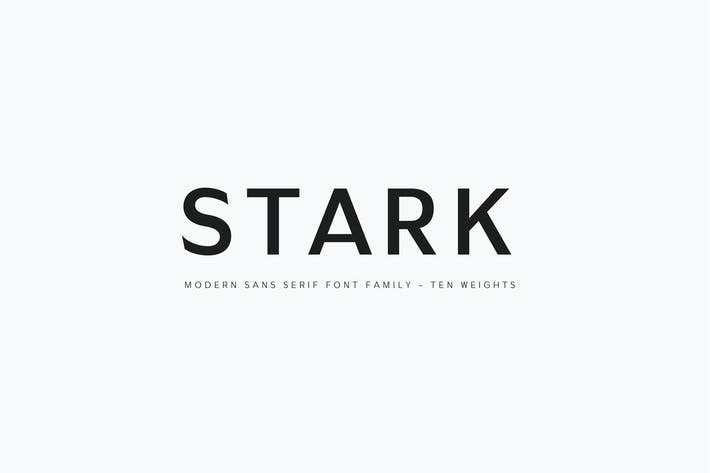 Thumbnail for Stark - A Modern Sans Serif