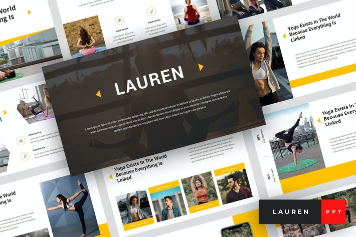 Thumbnail for Lauren - Yoga PowerPoint Template