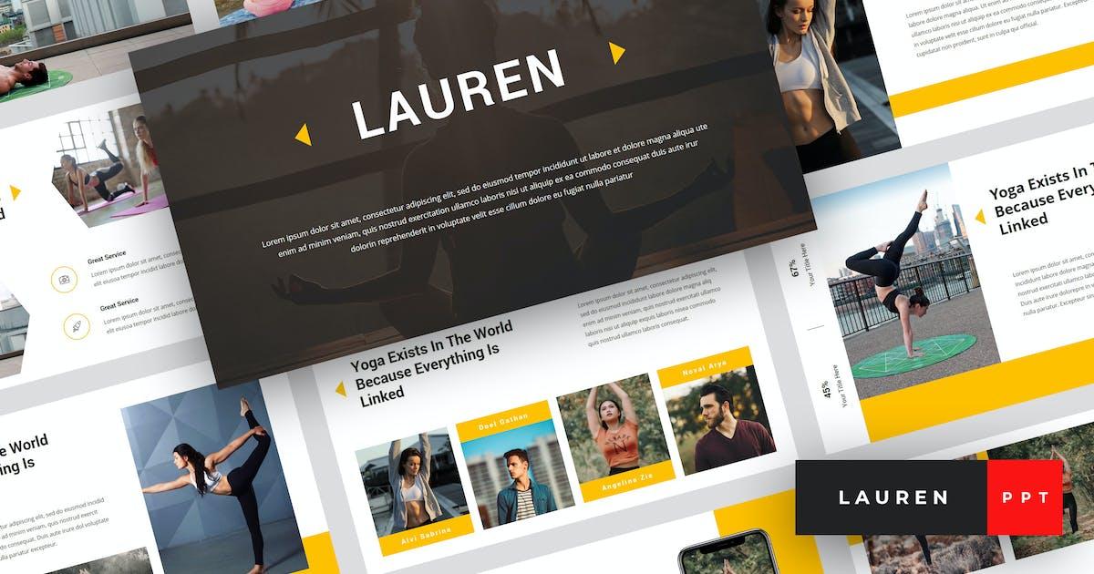 Download Lauren - Yoga PowerPoint Template by StringLabs