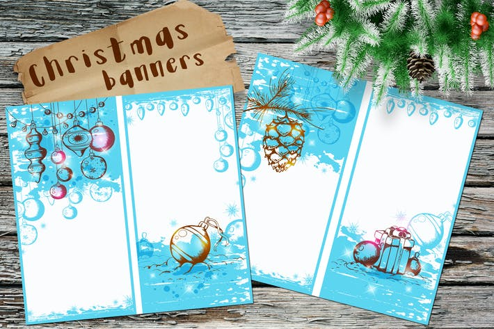 Thumbnail for Blue Christmas Banners