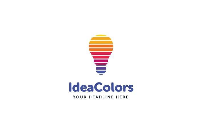 Thumbnail for Idea Colors Logo Template