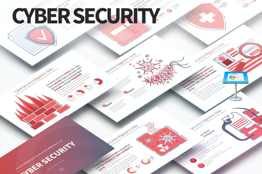 Cyber Security - Keynote Infographics Slides