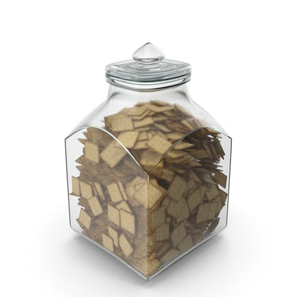 Square Jar with Square Crackers