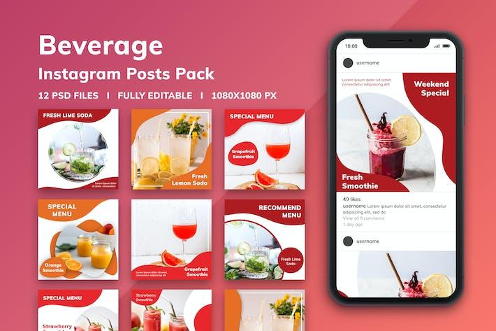 Thumbnail for Beverage Instagram Posts Pack