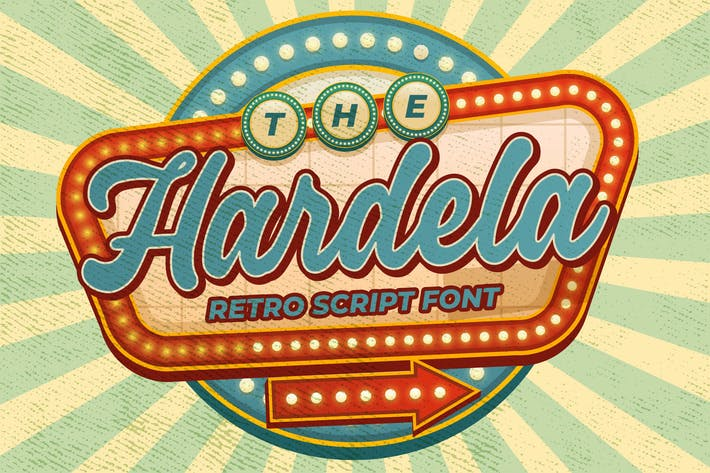 Thumbnail for Hardela - Retro Script Font