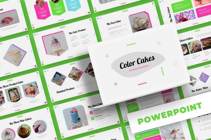 Thumbnail for Color Cakes - Powerpoint Template