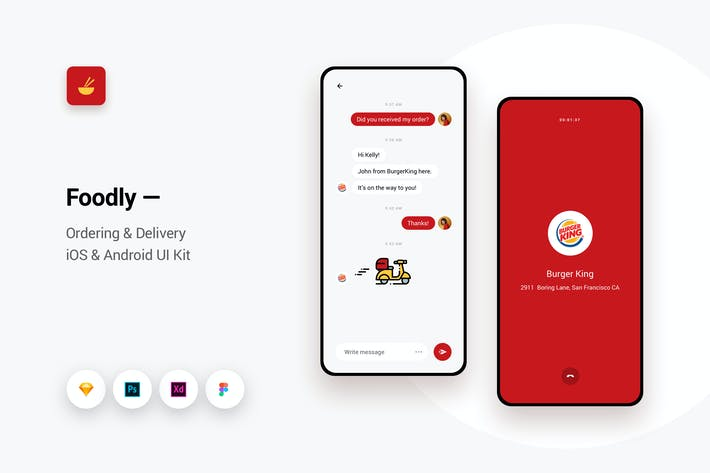 Thumbnail for Foodly - Ordering Delivery iOS & Android UI Kit 12