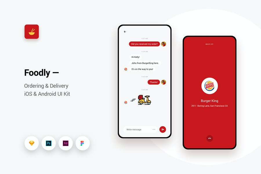 Foodly - Ordering Delivery iOS & Android UI Kit 12