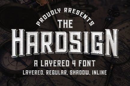 Hardsign - Layered Font