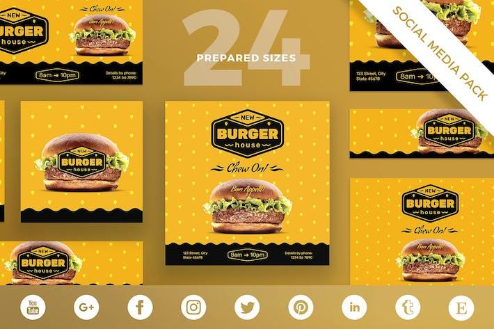 Thumbnail for Burger House Social Media Pack Template