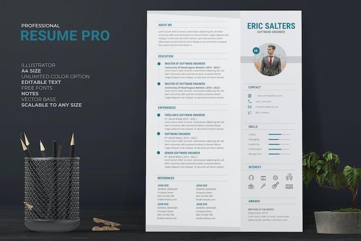 Clean Minimal Resume / CV Pro