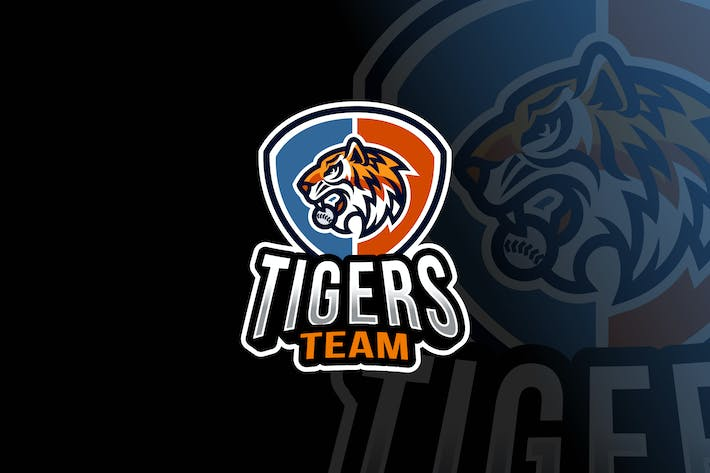 Thumbnail for Tigers Baseball Logo Template
