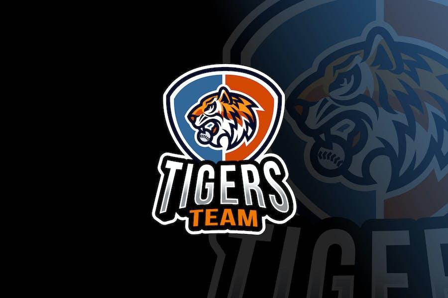 Tigers Baseball Logo Template