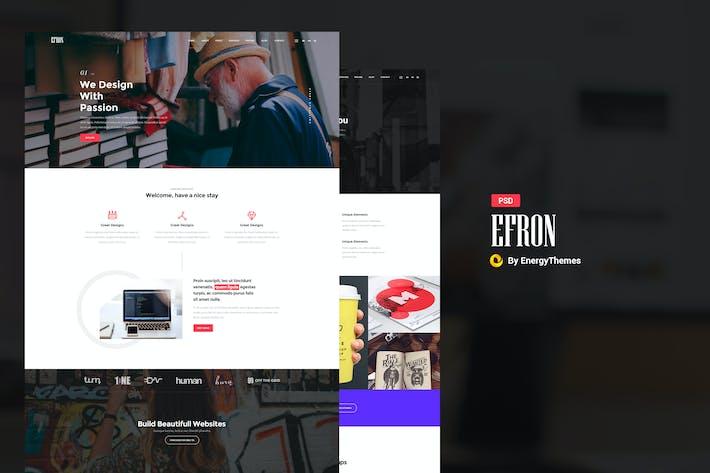 Efron - Creative PSD Template