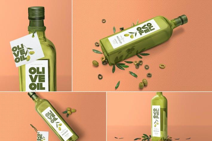 Thumbnail for Customizable Glass Bottle Mockups