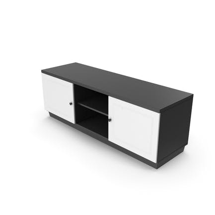 Soporte de TV Negro Blanco
