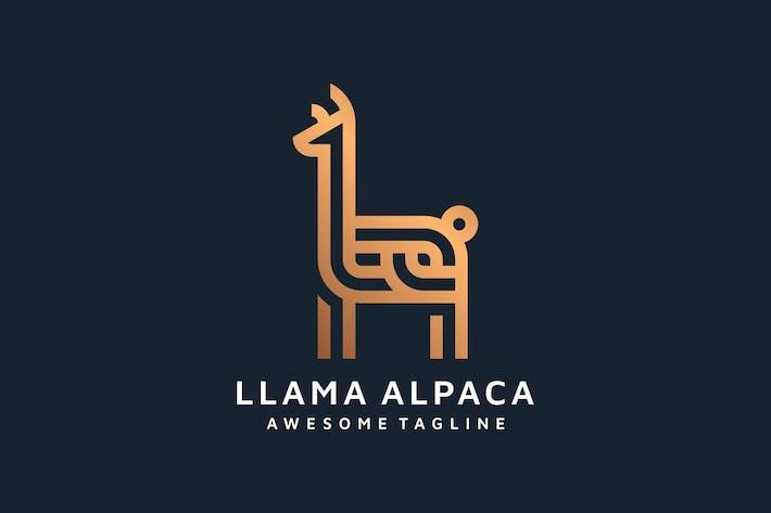 Thumbnail for LLAMA ALPACA LINE ART LOGO TEMPLATE