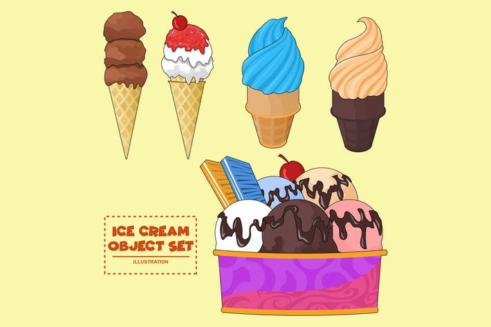 Thumbnail for Ice Cream Object Set Illustration FR