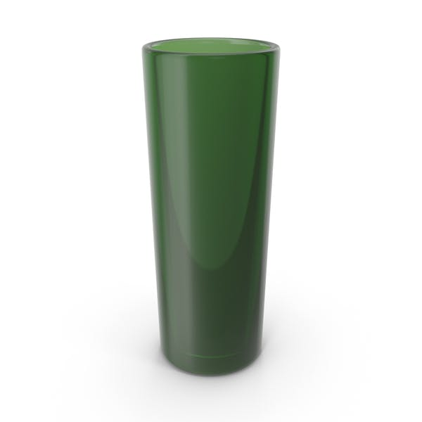 Jarrón tubo de vidrio