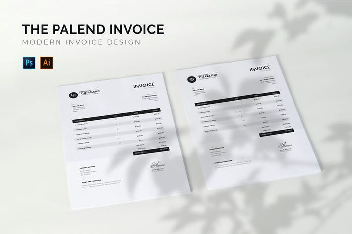 Thumbnail for Palend Studio - Invoice Template