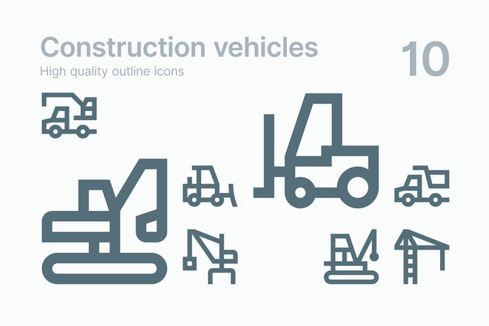 Thumbnail for Construction Vehicle Icons