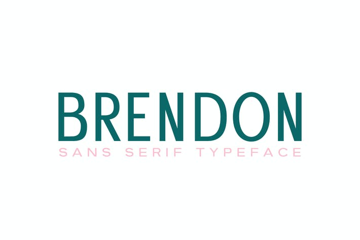 Thumbnail for Brendon Sans Serif Typeface