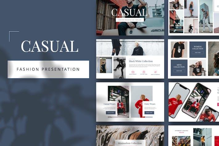 Thumbnail for Casual - Fashion Keynote Template
