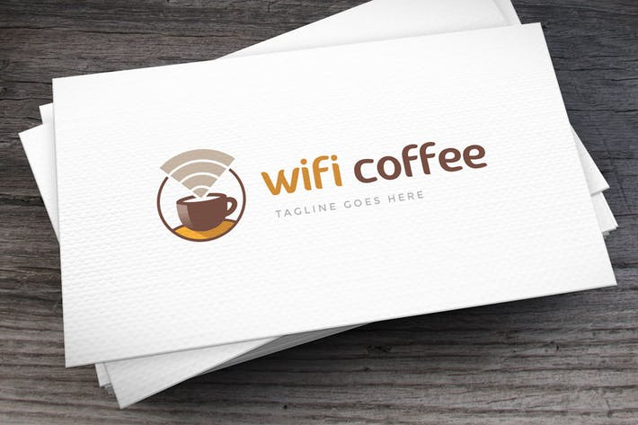 Thumbnail for Wifi Coffee Logovorlage