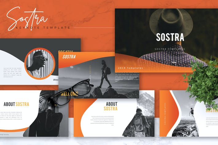 Thumbnail for SOSTRA - Creative Keynote Template