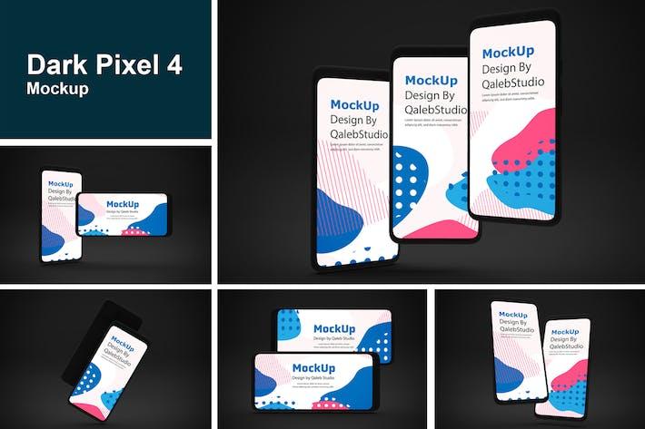 Thumbnail for Dunkler Pixel 4-Mockup