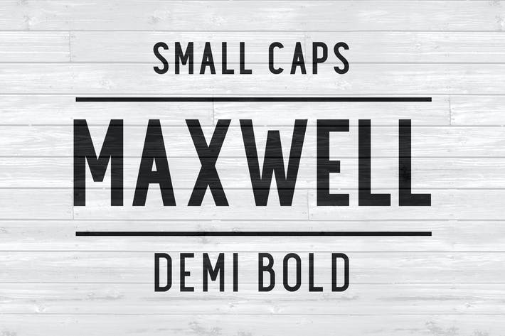Thumbnail for Maxwell Sans Small Caps DemiBold