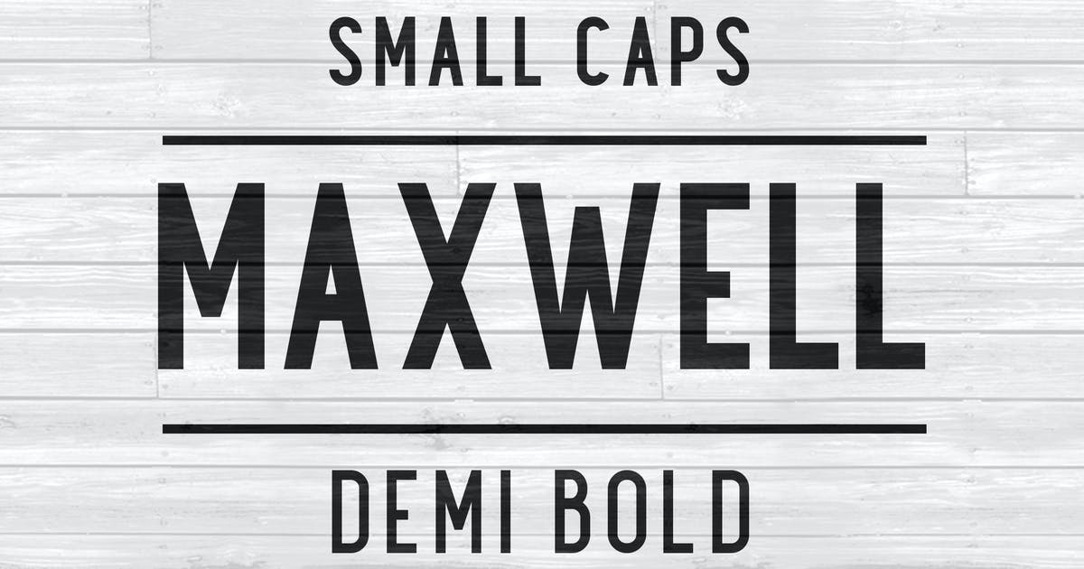 Download Maxwell Sans Small Caps DemiBold by kimmydesign