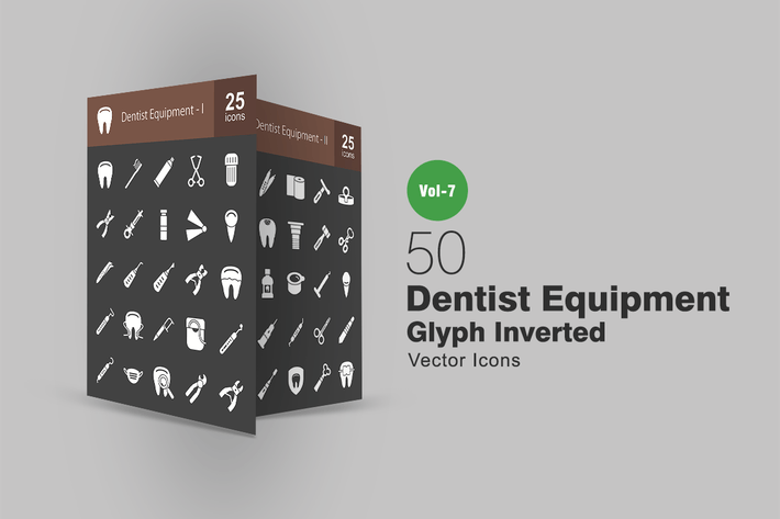 Thumbnail for 50 Dentist Equipment Line Icons