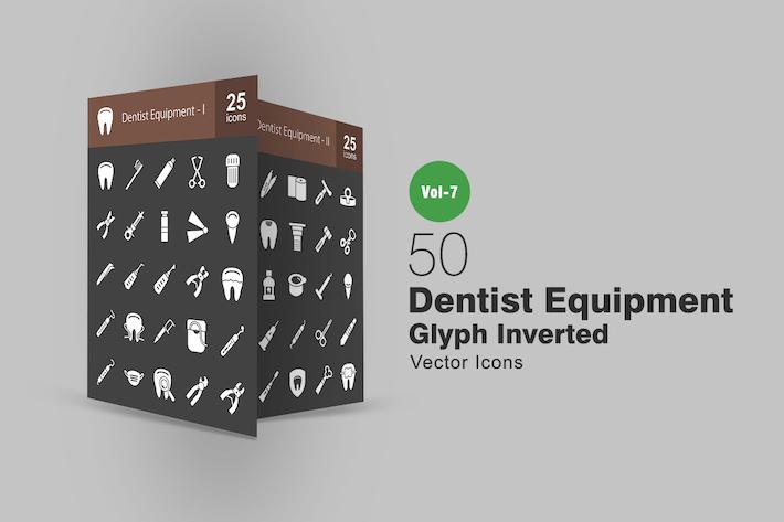 Thumbnail for 50 Dentist Equipment Line Icons