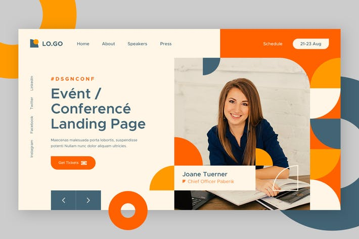 Thumbnail for Conference Hero Header Template