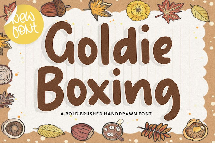 Cover Image For Goldie Boxing YH - Fuente de escritura a mano