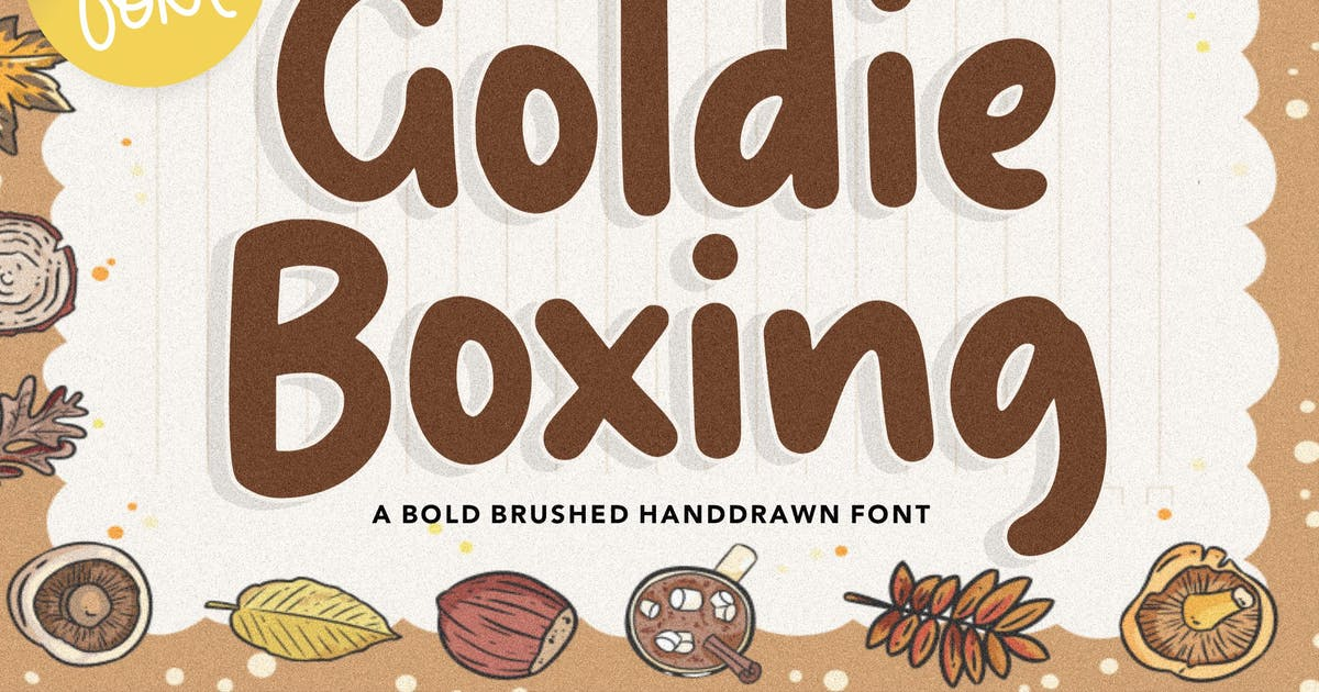 Download Goldie Boxing Handwriting Font YH by GranzCreative