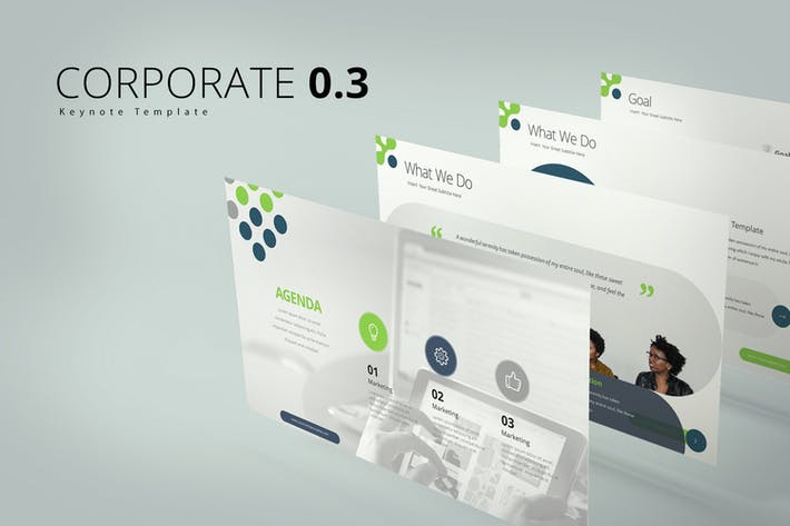 Thumbnail for Corporate 0.3 Keynote Templates
