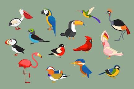 Popular Birds Icon Set