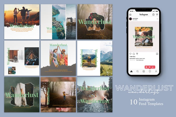 Thumbnail for Wanderlust - Instagram Post Template