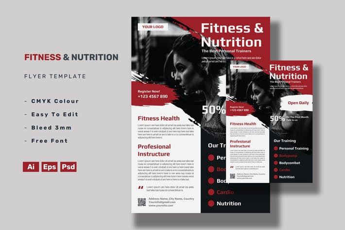 Thumbnail for Fitness & Nutrition Flyer