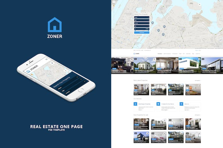 Thumbnail for Zoner - One page PSD Template