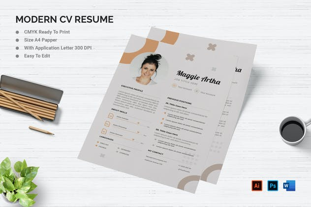 Maggie Artha - Resume & Letter - product preview 0
