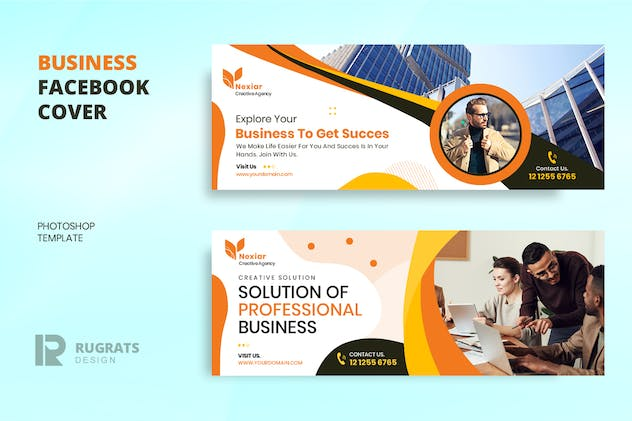 Business r1 Facebook Cover Template